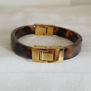 Michael Kors Tortoise Shell Gold Cuff Bracelet